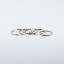 Load image into Gallery viewer, Twisted Rope Stackable Ring