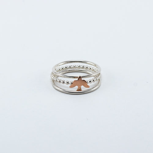 Sweet Sparrow Ring Stack