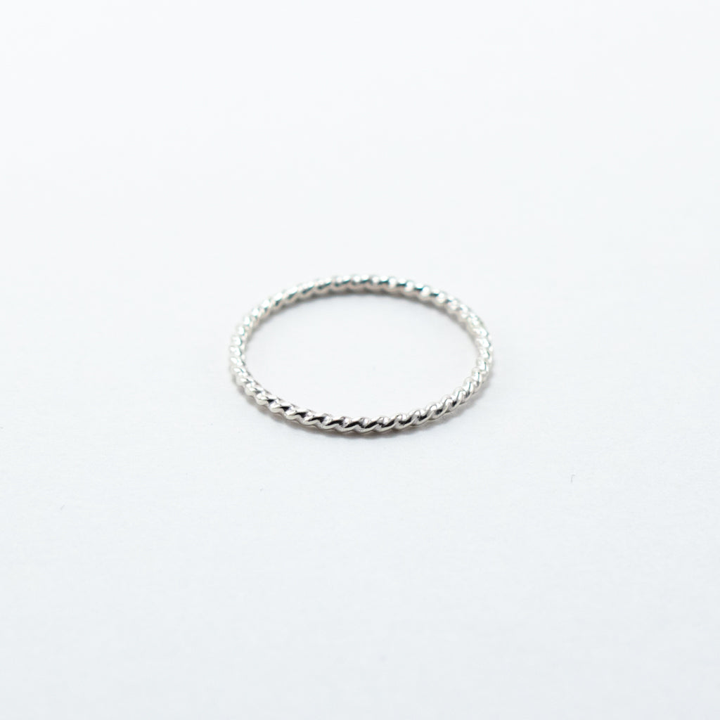 Twisted Rope Stackable Ring