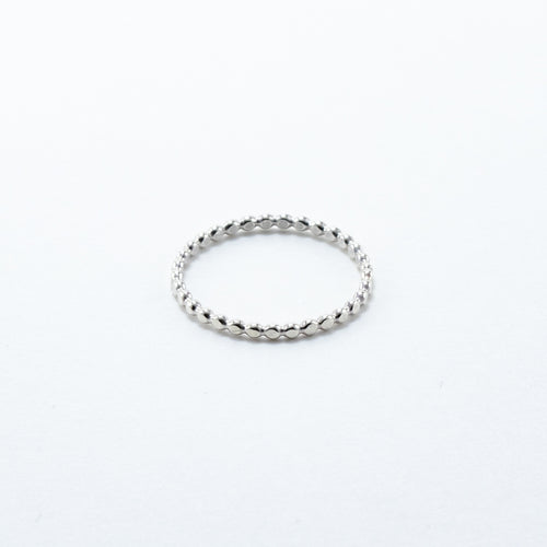 Oblate Beaded Stackable Ring