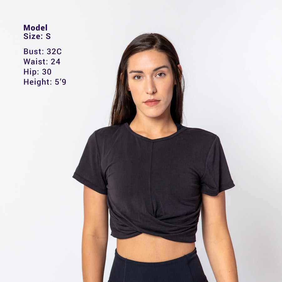 Crop Sweat T-Shirt