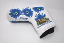 Load image into Gallery viewer, Blue Hawaiian Dude Custom Putter Cover - White
