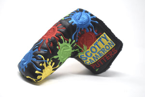 Paintball Splatter Custom Putter Cover - Black