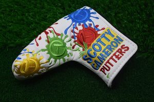 Paintball Splatter Custom Putter Cover - White