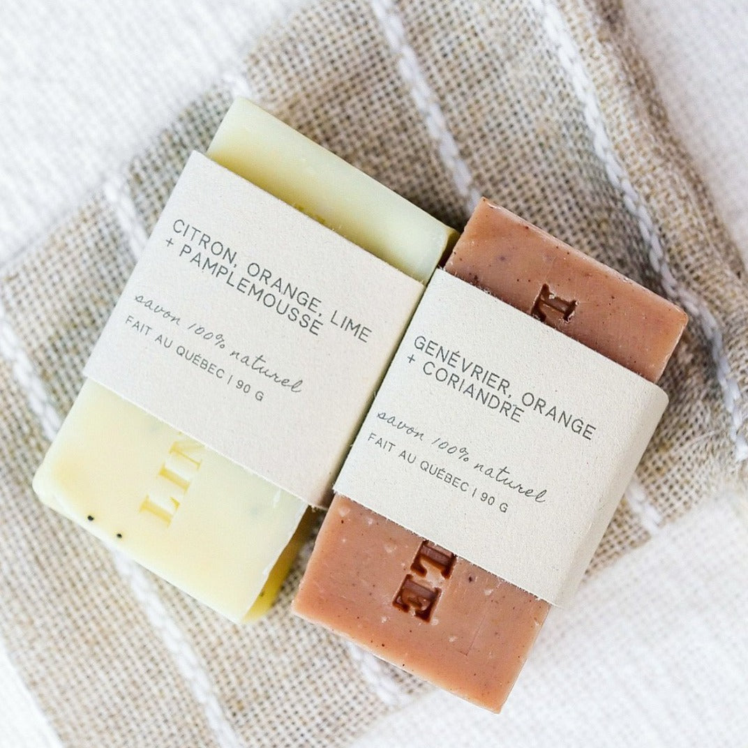 Moisturizing + exfoliating soap duo