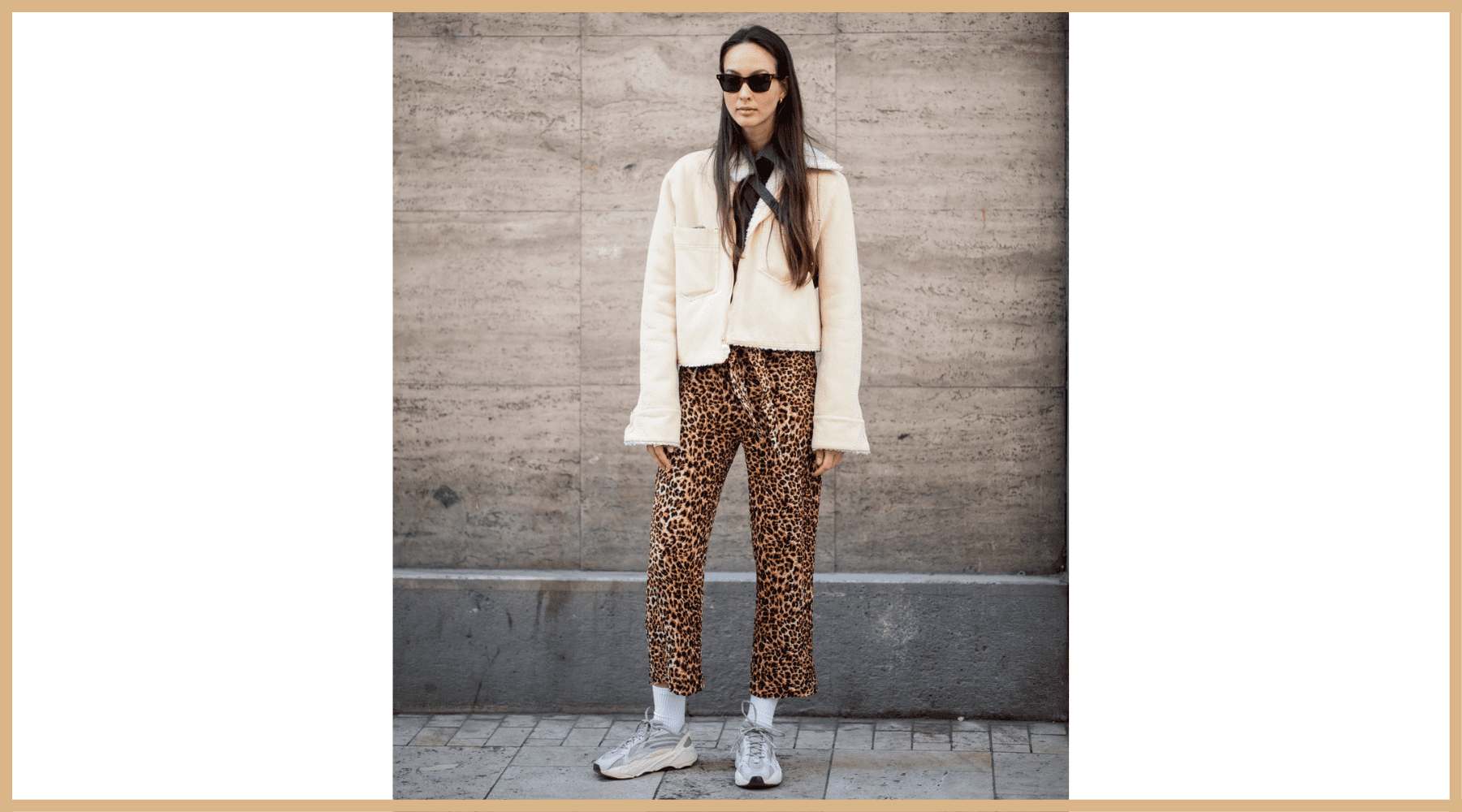 look leopard et baskets