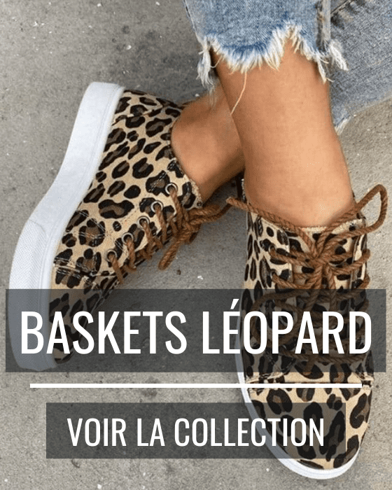 Baskets léopard.