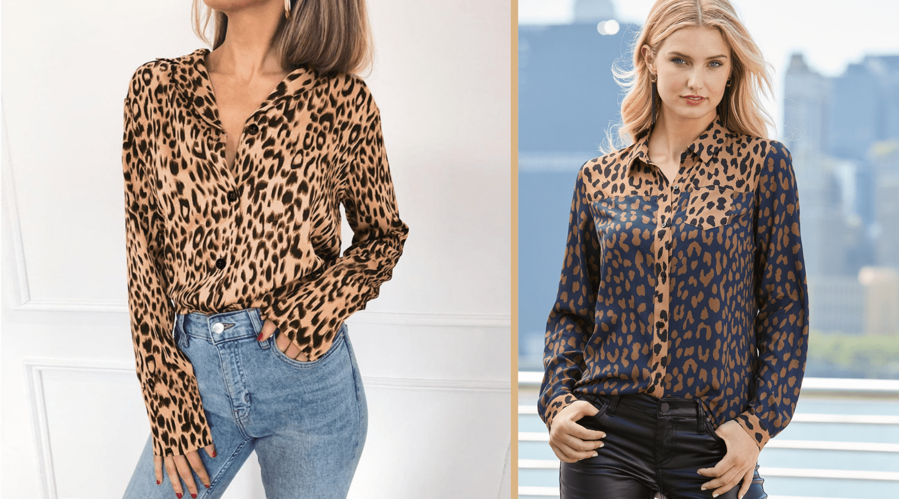 look chemise leopard