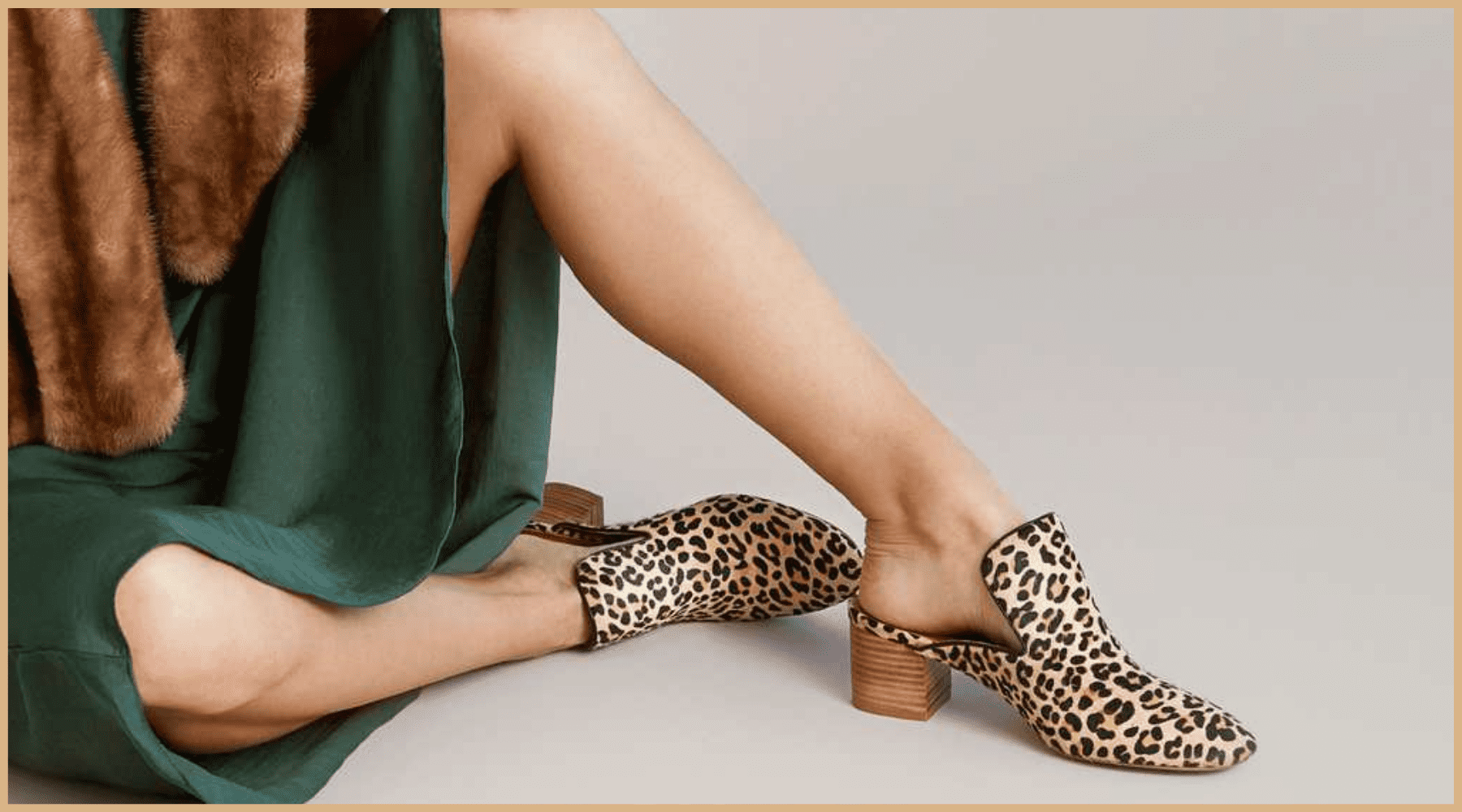 look chaussures leopard