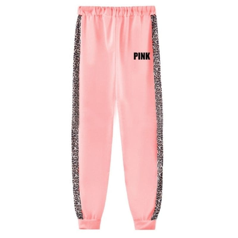 Ensemble jogging léopard pink.