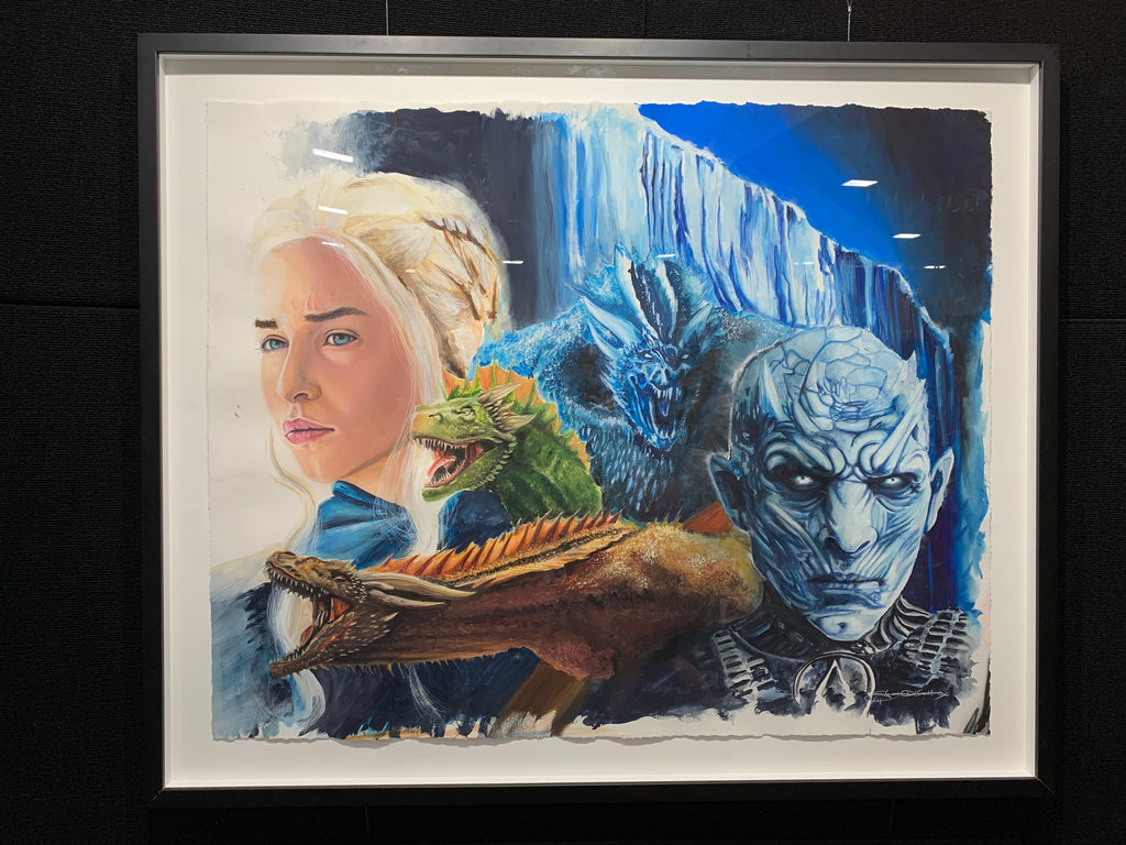 Game of Thrones Framed Original Artwork by Scott Hattox