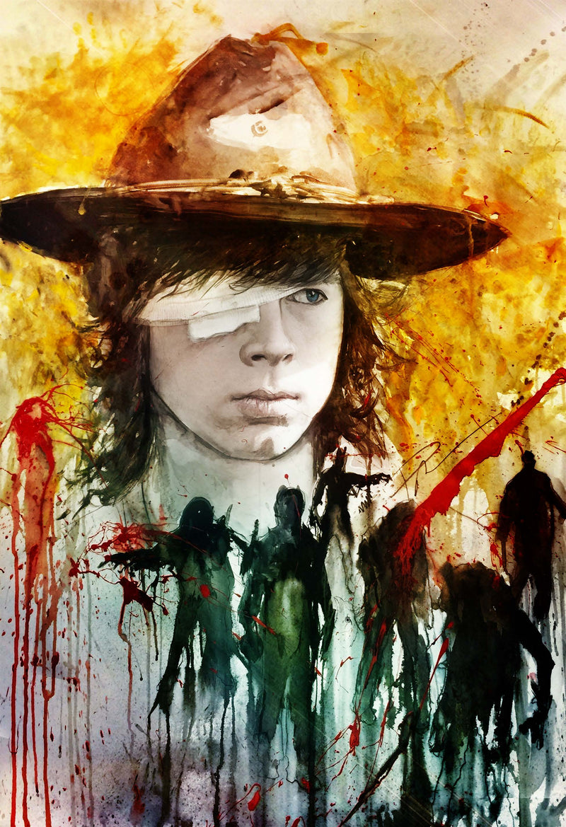 The Walking Dead Carl 13x19 Print