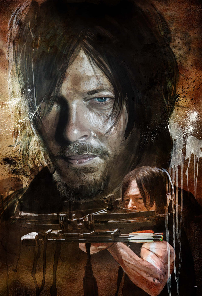The Walking Dead Daryl 13x19 Print