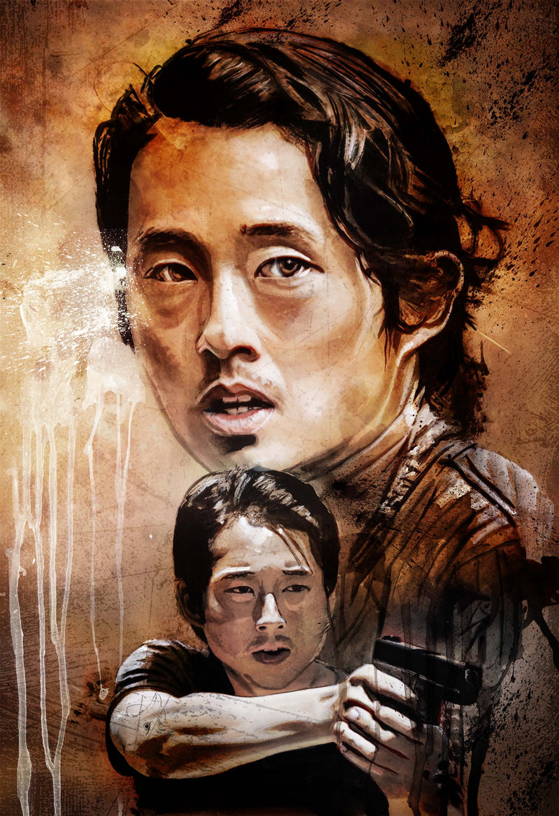 The Walking Dead Glenn 13x19 Print