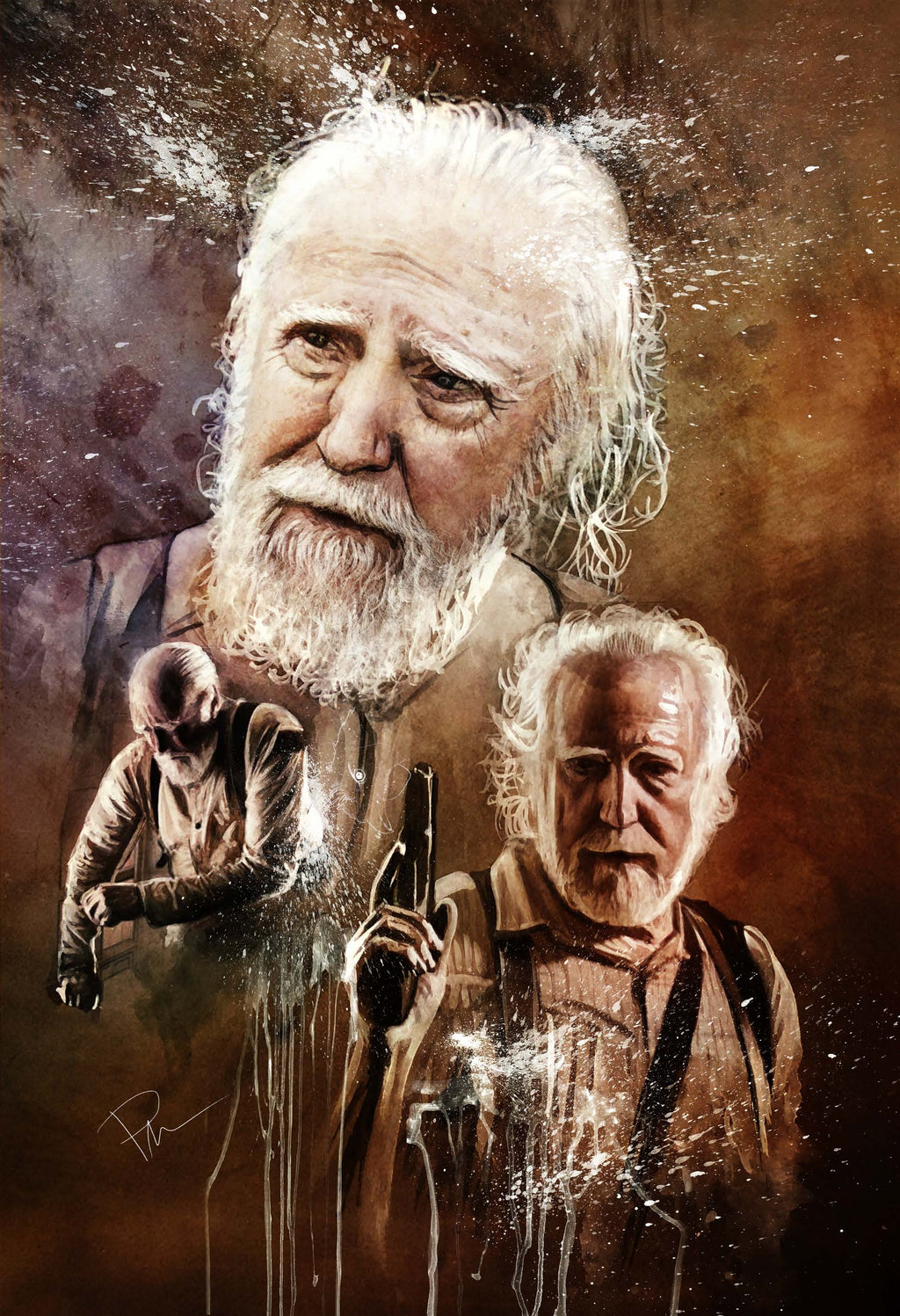 The Walking Dead Herschel 13x19 Print