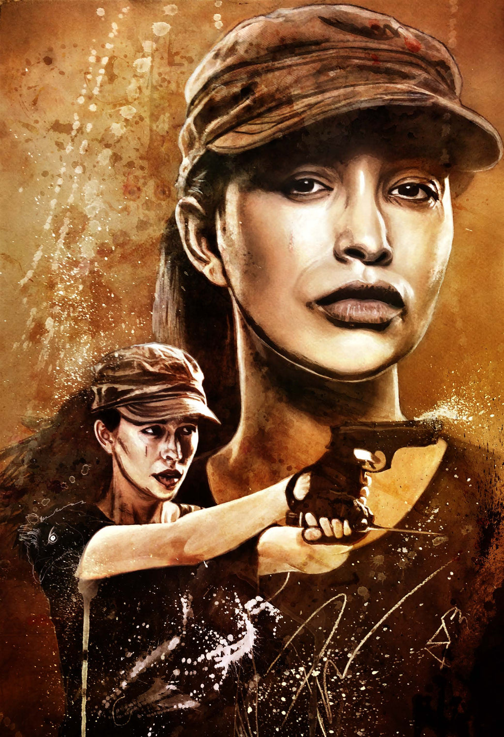 The Walking Dead Rosita 13x19 Print