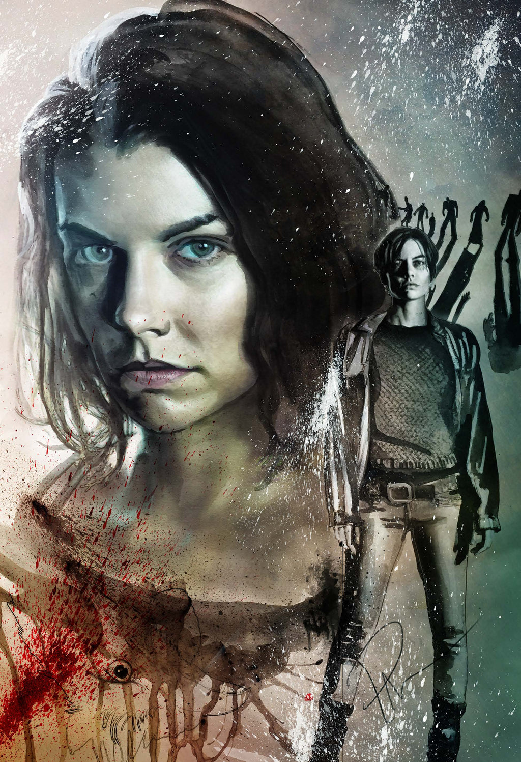 The Walking Dead Maggie 13x19 Print