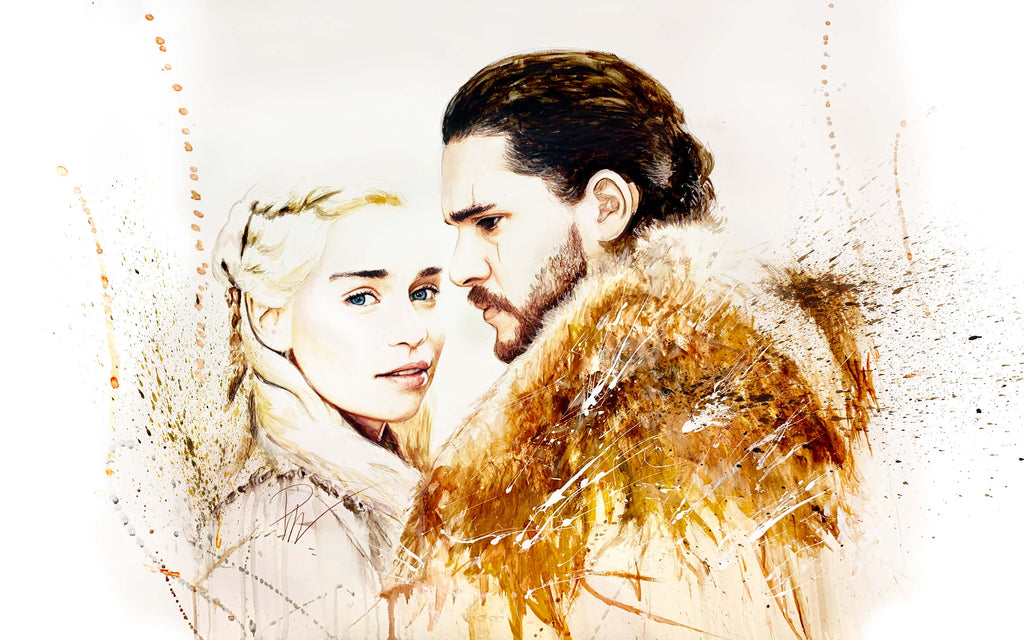Game of Thrones Dany and Jon 15x24 Print