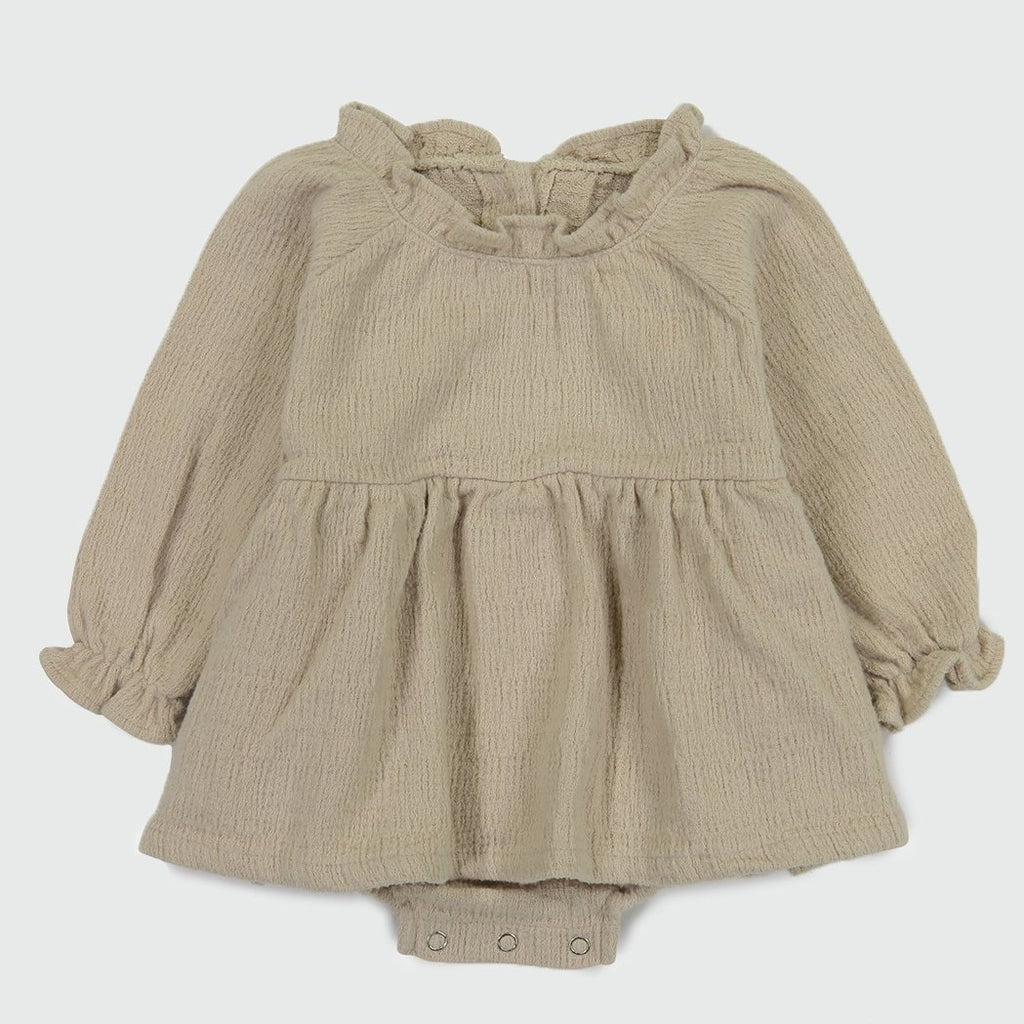 LALA Neck Frill Romper (Two Colors)