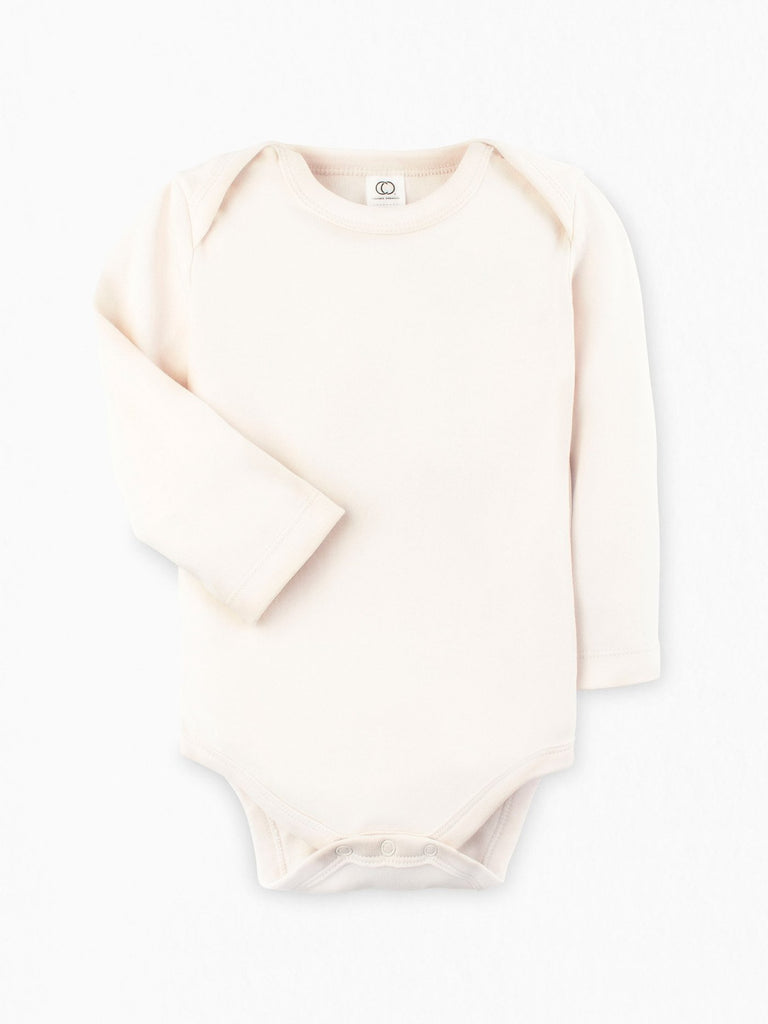 Organic Long Sleeve Bodysuit - Natural