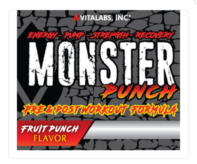 Monster Punch Pre-Workout and Recovery