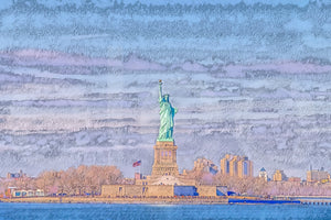 A.I. Collection Liberty of Statue, NYC - Wood Print