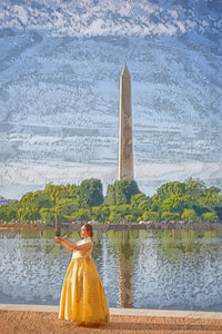 A.I. collection Hanbok Washington DC - Canvas Print