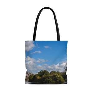 Travel Tote Bag, Reusable Shopping Bag, 100% Polyester Tote Bag, London, UK, Eco Friendly Tote Bag, Custom Photo