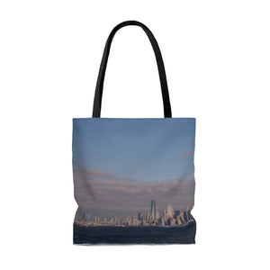 Travel Tote Bag, Reusable Shopping Bag, 100% Polyester Tote Bag, New York, USA, Eco Friendly Tote Bag, Custom Photo