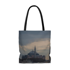 Travel Tote Bag, Reusable Shopping Bag, 100% Polyester Tote Bag, Istanbul, Turkey, Eco Friendly Tote Bag, Custom Photo