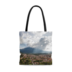 Travel Tote Bag, Reusable Shopping Bag, 100% Polyester Tote Bag, Antigua, Guatemala, Eco Friendly Tote Bag, Custom Photo