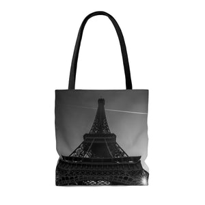 Travel Tote Bag, Reusable Shopping Bag, 100% Polyester Tote Bag, Eiffel Tower, Paris, France, Eco Friendly Tote Bag, Custom Photo
