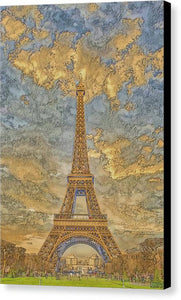A.I. Collection Eiffel Tower Sunset - Canvas Print