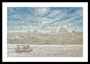 A.I. Collection Istanbul - Framed Print