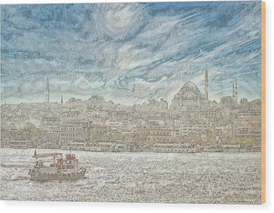 A.I. Collection Istanbul - Wood Print