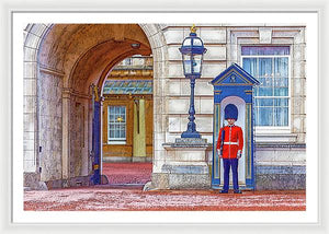 A.I. Collection Queen's Guard - Framed Print