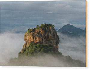 Sigiriya Rock - Wood Print - elee photo arts