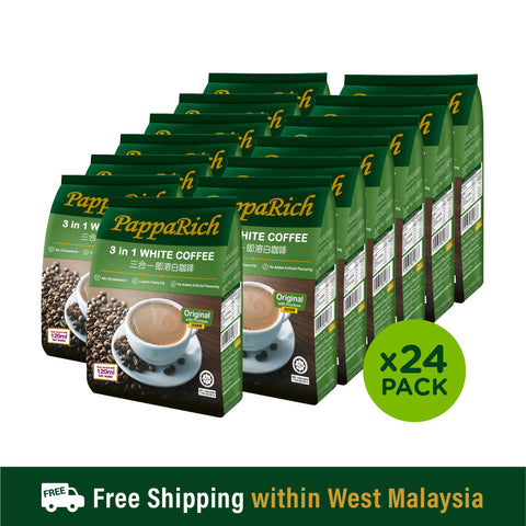 [1 Carton] Papparich White Coffee 3in1 (24pkt x 30g x 12s)