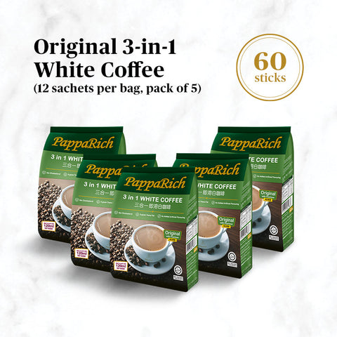 [5 Pack Bundle] Papparich White Coffee 3-in-1 (30g x 12s)