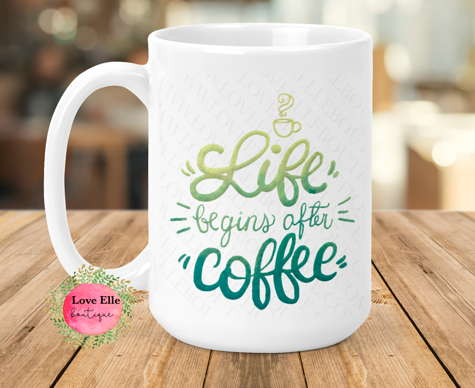 Life Begins After Coffee Coffee Mug/Tumbler