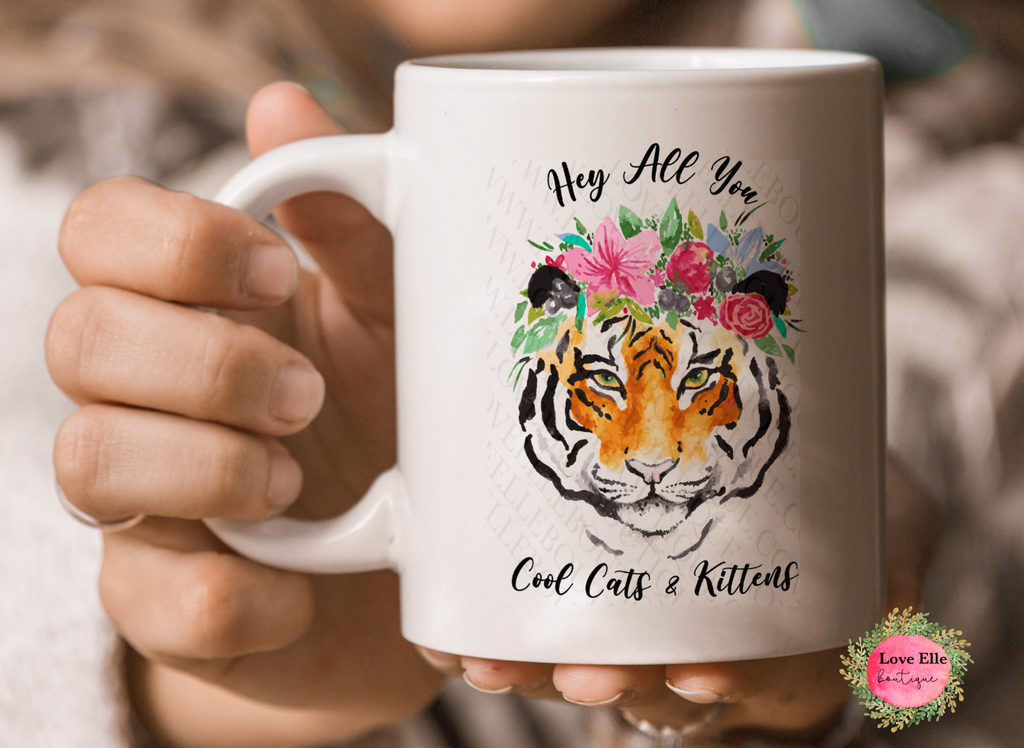 Hey All You Cool Kids And Kittens Mug/Tumbler