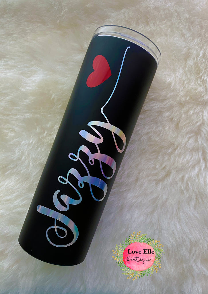 Personalized Just Breathe  Matte Tumbler
