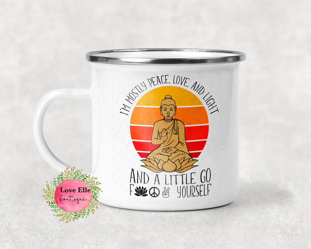 I'm A Little Peace, Love, And A Little... Camp Cup Mug