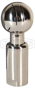 Rotating Spray Ball Stainless Steel 316 Stainless - Tri Clover Connection