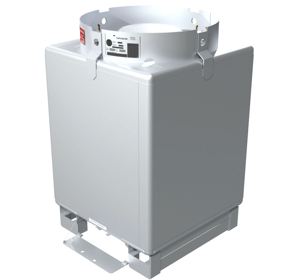 FOOD GRADE TOTE storage tanks - Hygienic 304, stackable with sloped floor and fittings