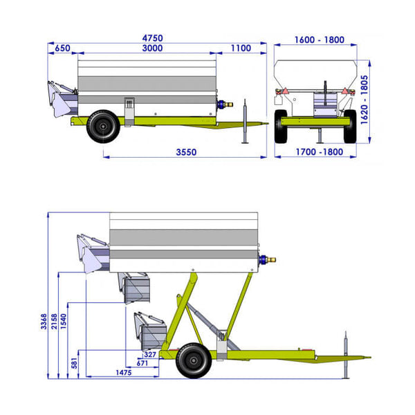 Risible trailer GRE 40 - Semi solids like grapes and marc