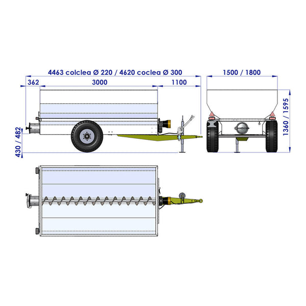 Trailer G4 hydraulic motor - Semi solids like grapes and marc