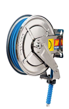 "HIGH PRESSURE WATER HOSE REEL  INOX SX-400 2SC 3/8"" 10M - FOOD SAFE"