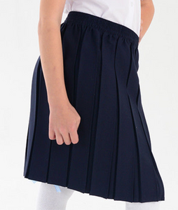 Box Pleat Elasticated Skirt Assorted Colours
