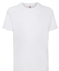 Children's White Valueweight T Shirt